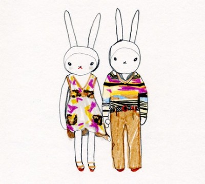 Fifi Lapin and Sonny hare wear Missoni 07